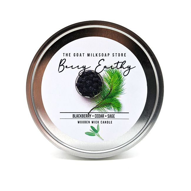Berry Earthy Wooden Wick Candle