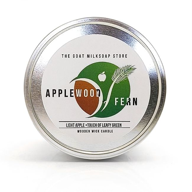 Applewood Fern Wooden Wick Candle