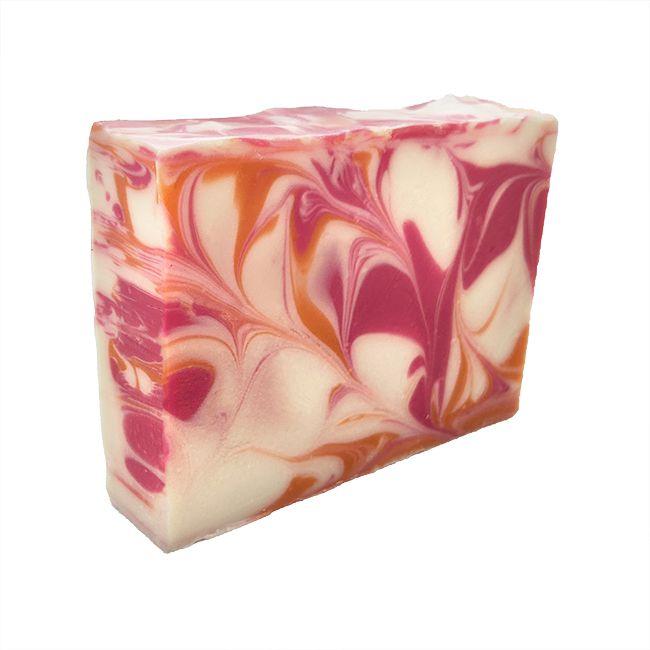 White Peach Hibiscus Goat Milk Soap