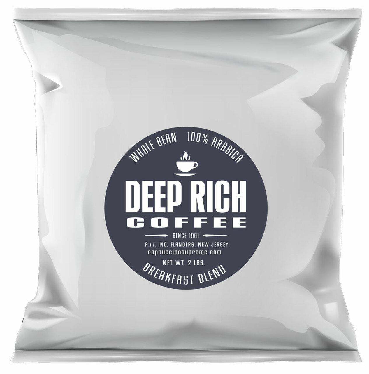 Deep Rich Breakfast Blend Whole Bean Coffee