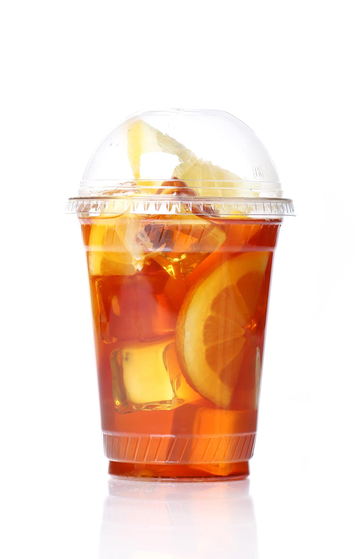 Leaf tea and instant tea blends