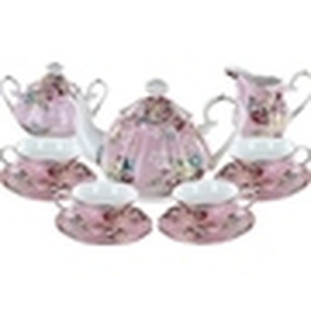 Shabby Rose Pink Porcelain