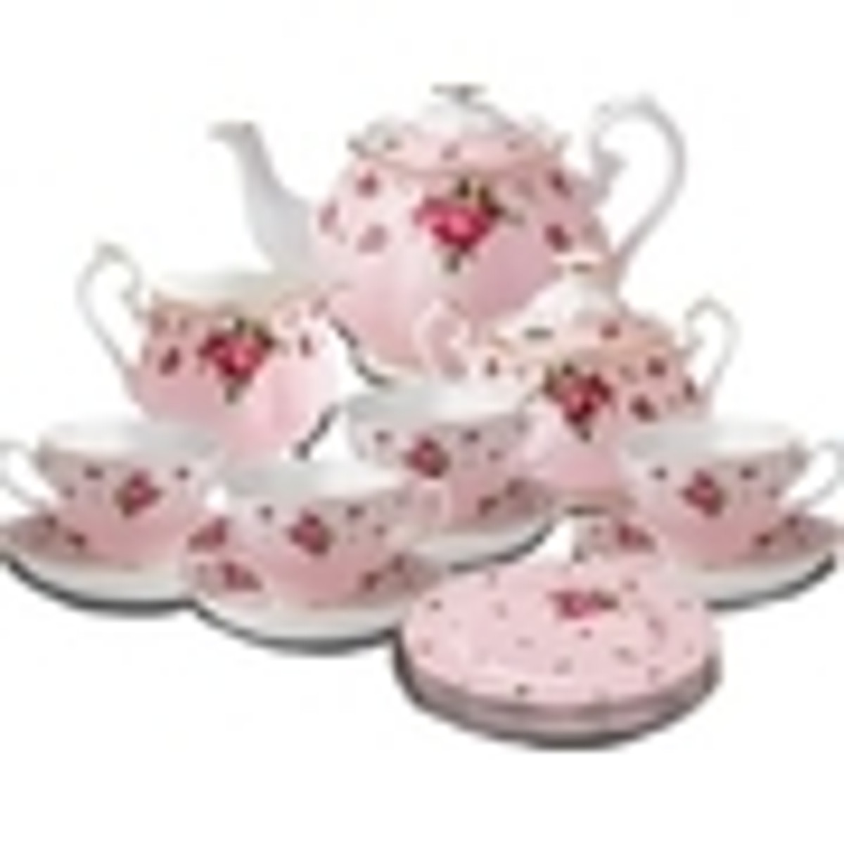 New Country Roses Pink Fine Bone China