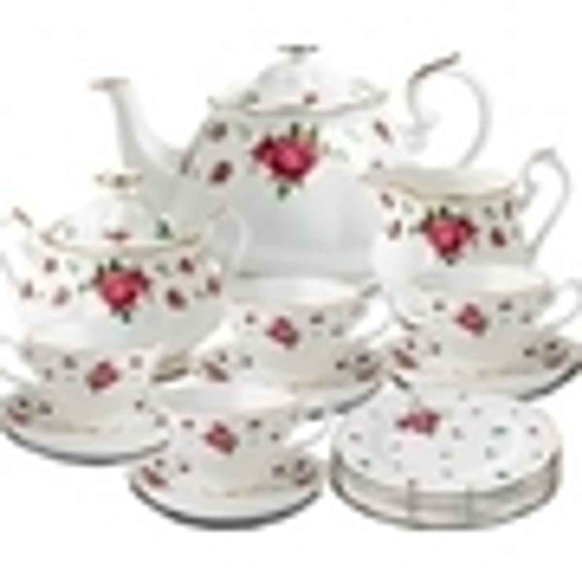 New Country Roses White Fine Bone China