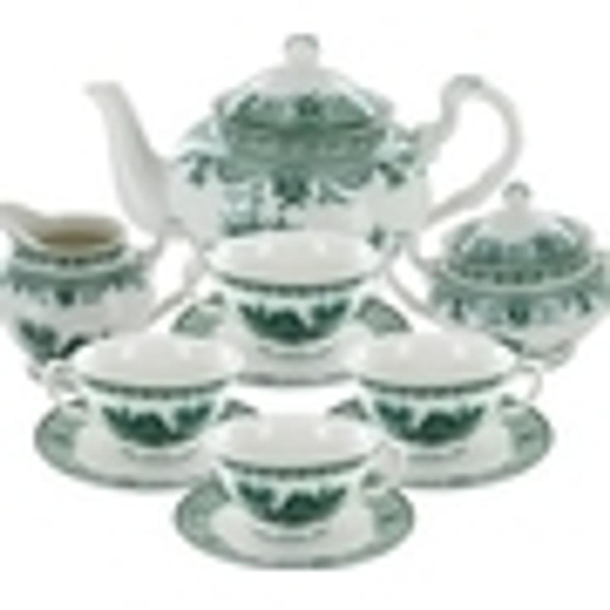 Green Toile Porcelain