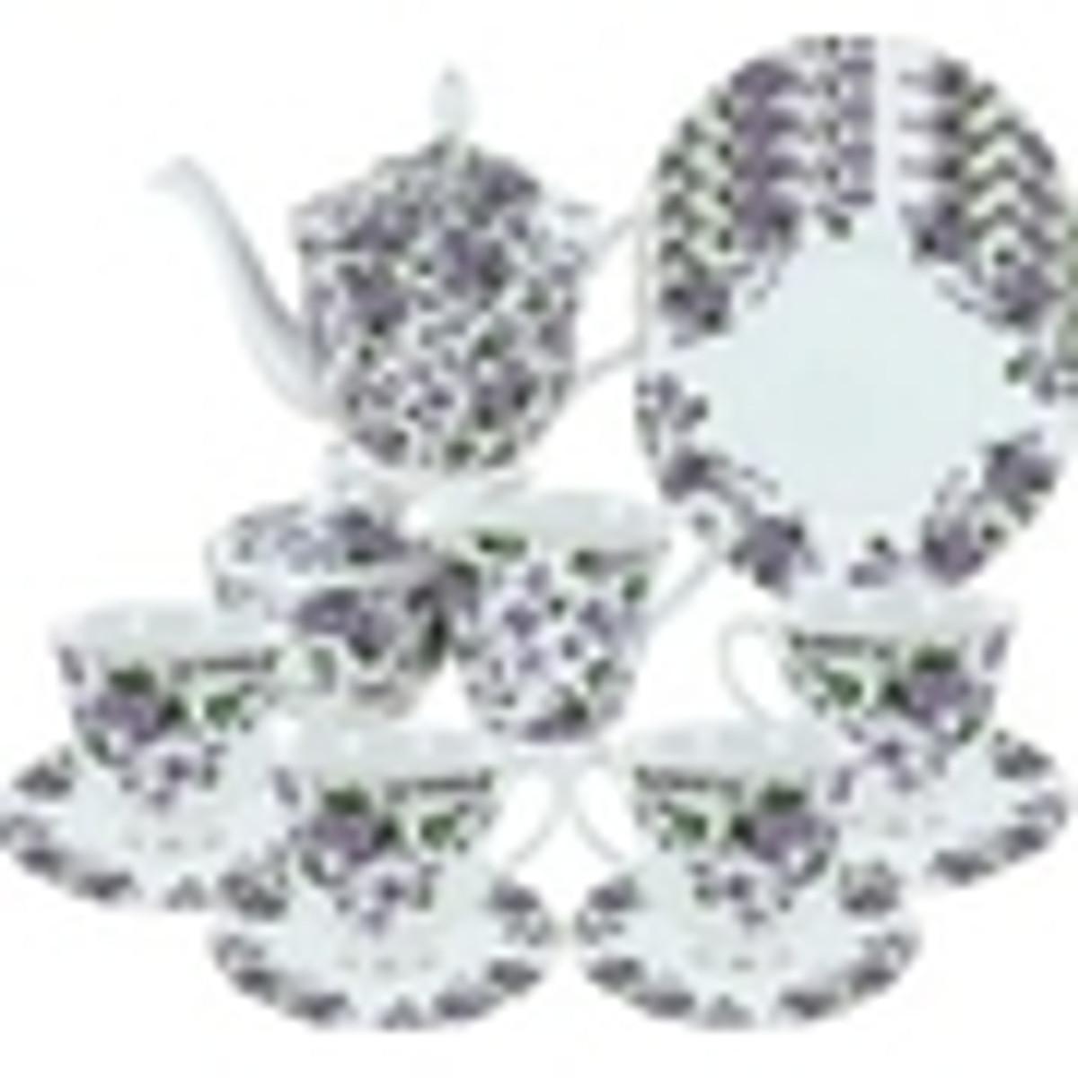 Gracie's Violets Bone China