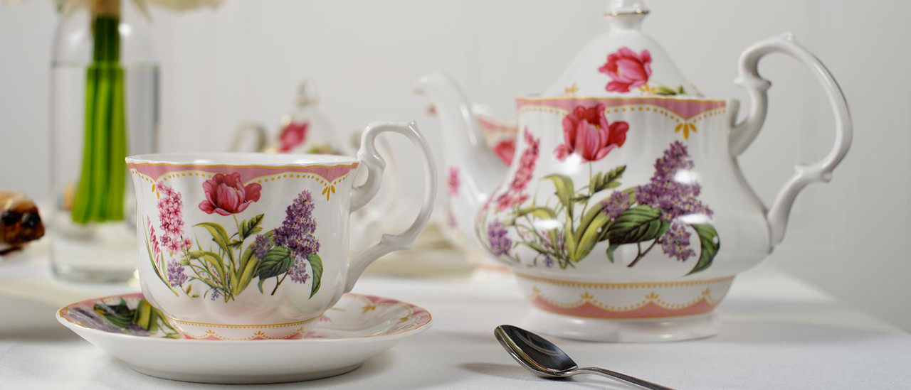 Porcelain and Fine Bone China Tea Sets.