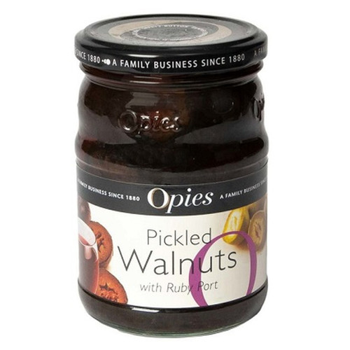 Opies Pickled Walnuts With Ruby Port - 13.75oz (390g)