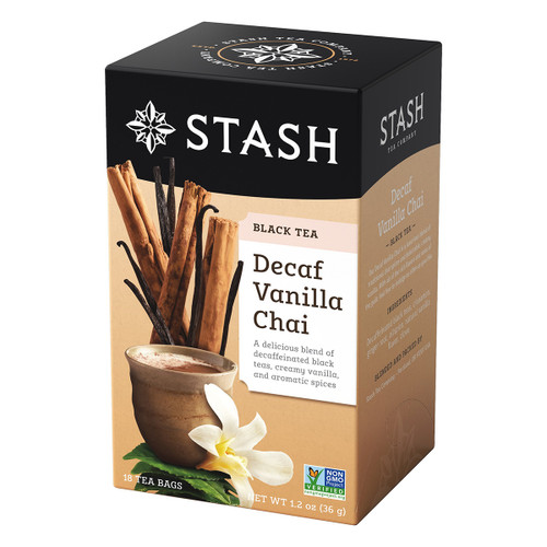 Stash Decaf Vanilla Chai Black Tea - 18 count