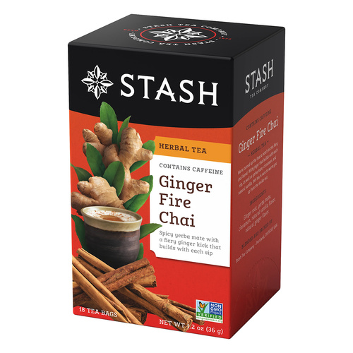 Stash Ginger Fire Chai Herbal Tea - 18 count