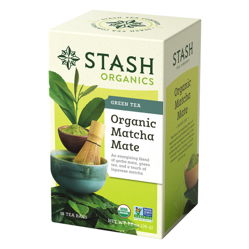 Stash Organic Matcha Mate Green Tea - 18 count