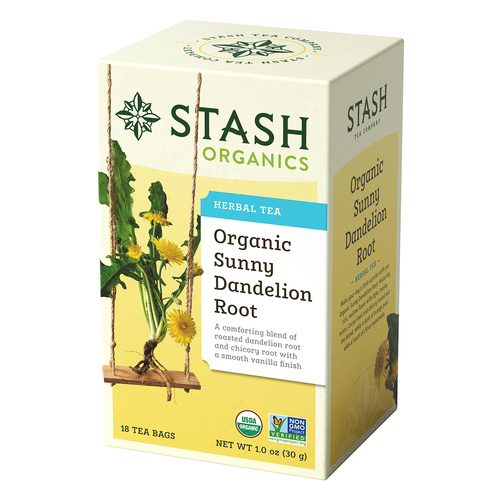 Stash Organic Sunny Dandelion Root Herbal Tea - 18 count