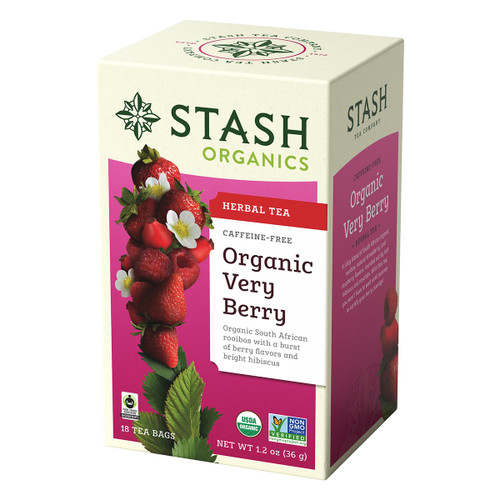 Stash Organic Very Berry Herbal Tea - 18 count