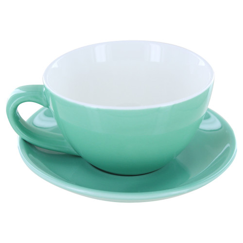 English Tea Store Porcelain Tea Cup-Green Gloss Finish