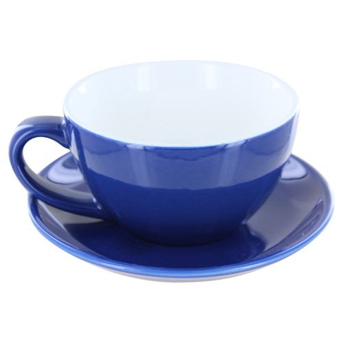 English Tea Store Porcelain Tea Cup- Navy Blue Gloss Finish