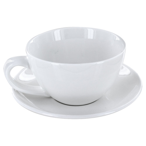 English Tea Store Porcelain Tea Cup- White Gloss Finish