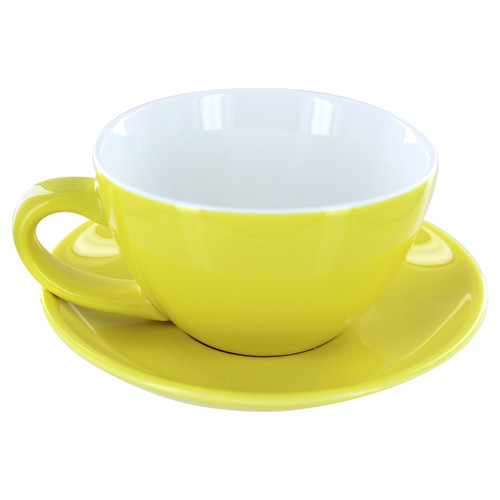 English Tea Store Porcelain Tea Cup- Yellow Gloss Finish