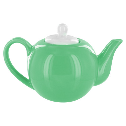 English Tea Store 2 Cup Porcelain Teapot- Green Gloss Finish