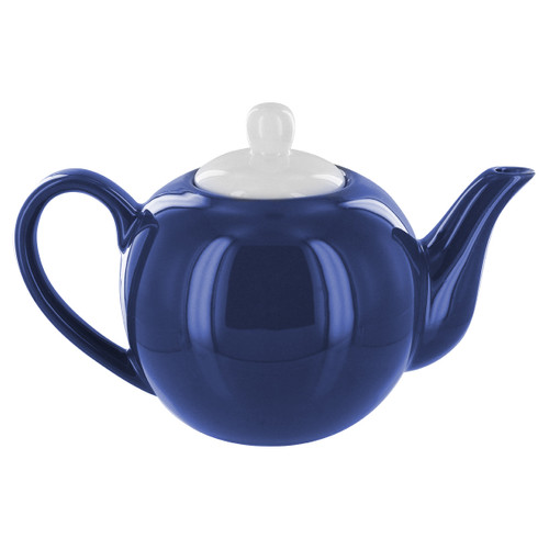 English Tea Store 2 Cup Porcelain Teapot- Navy Blue Gloss Finish