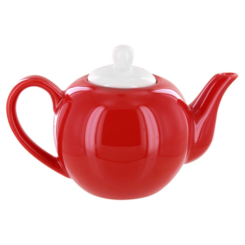 English Tea Store 2 Cup Porcelain Teapot- Red Gloss Finish