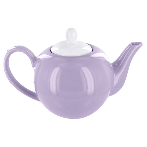 English Tea Store 6 Cup Porcelain Teapot- Lavender Gloss Finish