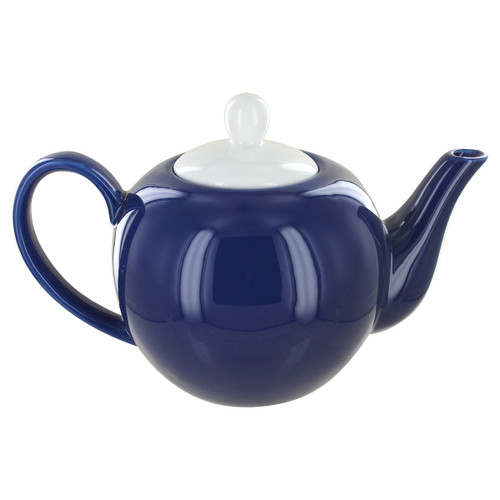 English Tea Store 6 Cup Porcelain Teapot- Navy Blue Gloss Finish