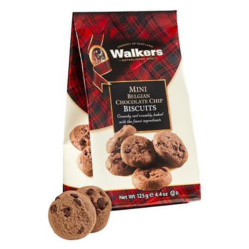 Walkers Mini Belgian Chocolate Chip Cookies - 4.4oz (125g)