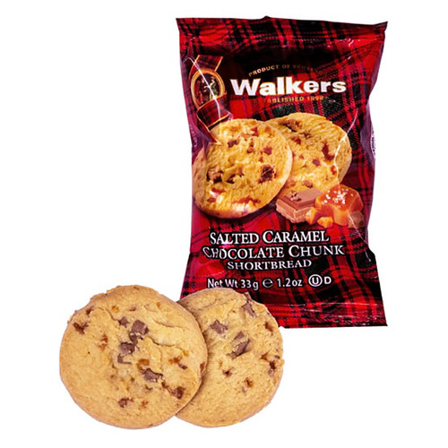 Walkers Salted Caramel Chocolate Chunk Shortbread - 2 Pack - 1.2oz (33g)
