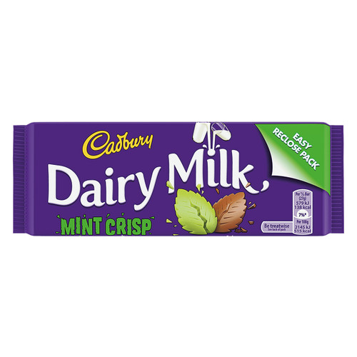 Cadbury's Dairy Milk Mint Crisp Chocolate - 1.90 oz (54g)