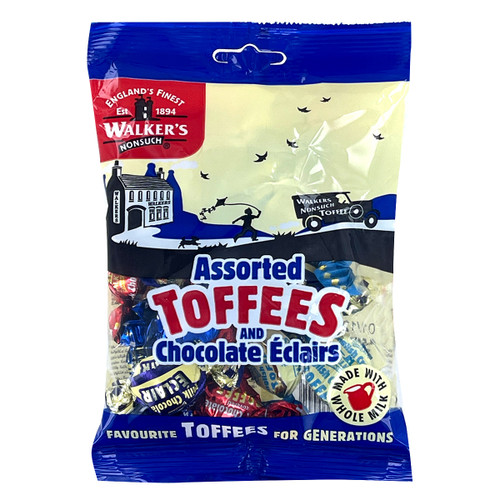 Walkers Traditional Assorted Royal Toffees and Eclairs - 5.3oz (150g)