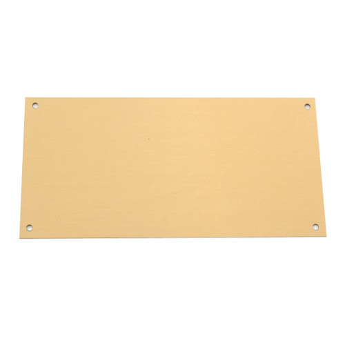 Blank Large Brass Engraving Plate - 3.25in x 6.25in