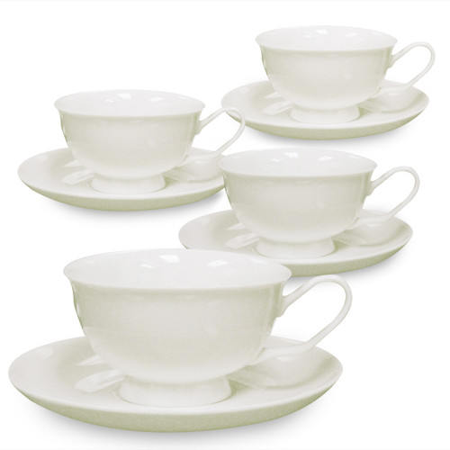 Porcelain Cup & Saucer - Helios - Set of 4