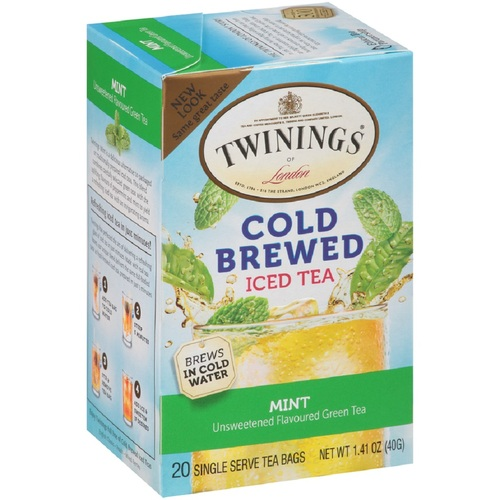 Twinings' Cold Brewed Iced Tea - Green Tea w/ Mint- 20 count