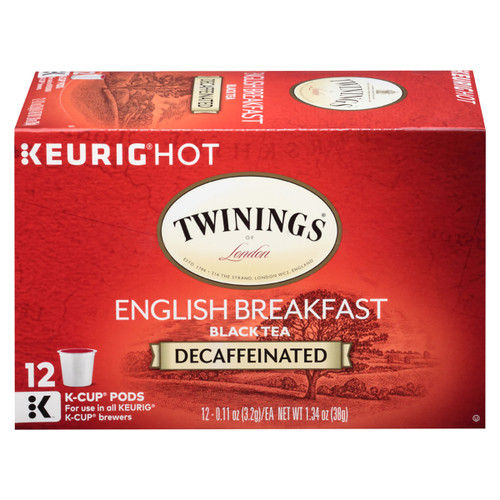 Twinings English Breakfast Decaf K-Cups - 12 count