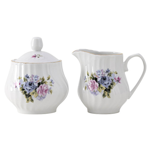 Millicent/Serafina Porcelain Sugar and Creamer Set