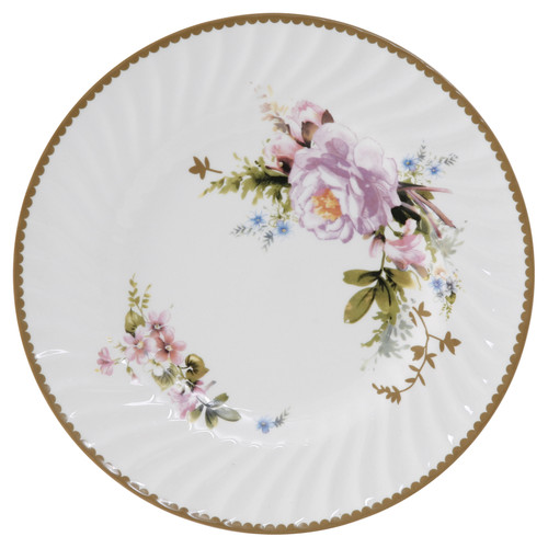 Timeless Rose Porcelain 7.5 inch Dessert Plates - Set of 6