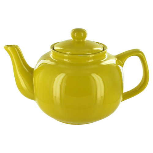 English Tea Store Brand 6 Cup Teapot - Yellow Gloss Finish