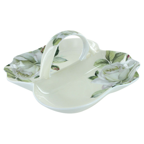 Iceberg Bone China - Divided Serving Tray - 7in x7.5in