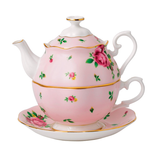 Royal Albert New Country Roses Pink Fine Bone China - Tea for One Set