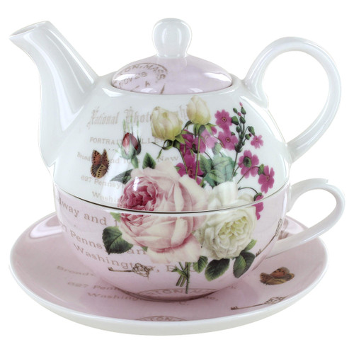 Botanical Pink Garden Porcelain - Tea for One Set