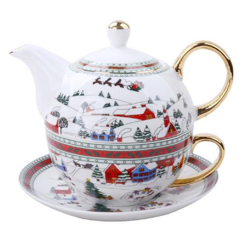 Winter Wonderland 4 Piece Set Tea for One, Gift Boxed
