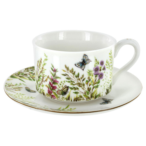 Majestic Meadows Cup and Saucer Set of 4