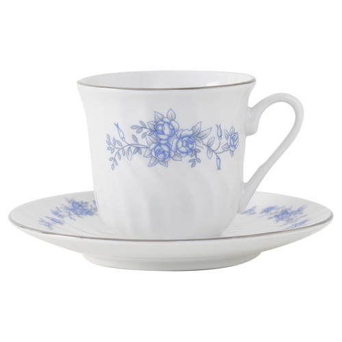 Royal Rose Porcelain Tea Cup and Saucer - Set of 6