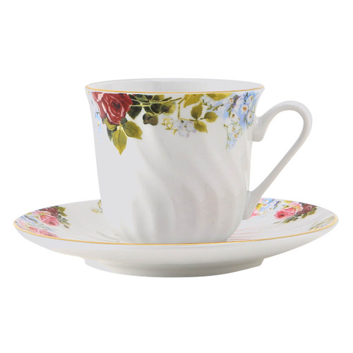 Philomena Porcelain Tea Cup and Saucer - Set of 6