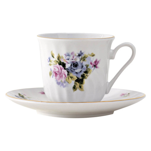 Serafina Porcelain Teacup and Saucer - Set of 6