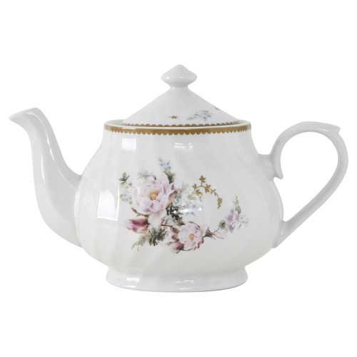Timeless Rose Porcelain Teapot - 37oz