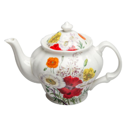 Poppy Field Bone China - 5 Cup Teapot