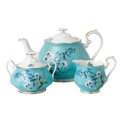 100 Years of Royal Albert Fine Bone China - 1950 Festival - 3 Piece Tea Set