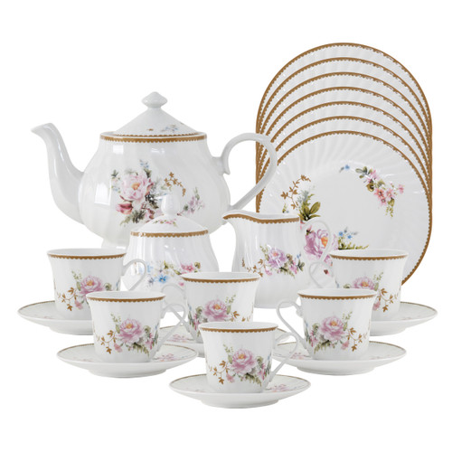 Timeless Rose Porcelain Tea Set