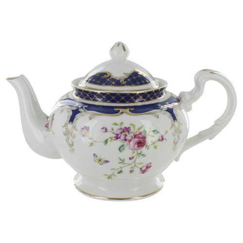 Navy Rose Porcelain - 5 Cup Teapot